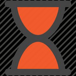 hourglass, sand clock, sand timer, sand watch, sandglass icon