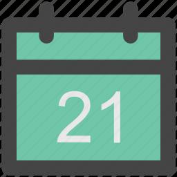 calendar, calendar date, day, schedule, time icon