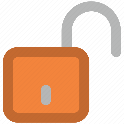 open padlock, safety, unlocked, unlocked padlock, unlocking icon