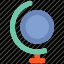 desk globe, desktop globe, globe, table globe, world map icon