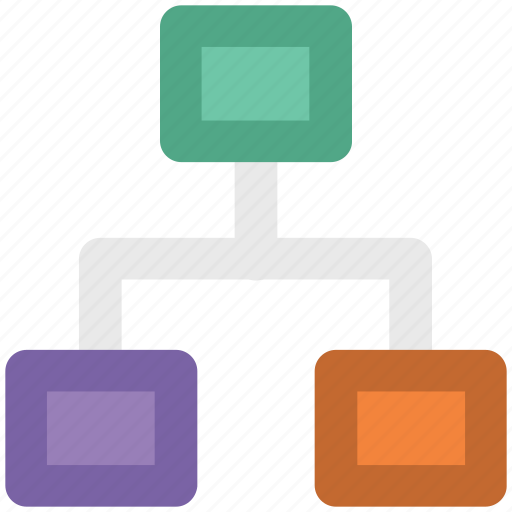 computing share, hierarchical, hierarchy, network, share icon