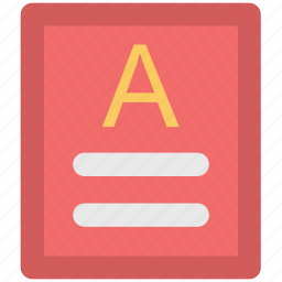 a grade, document, file, grade sheet, paper icon