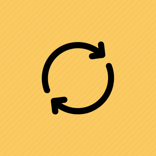 initializing, loading arrows, processing, refresh, synchronization icon