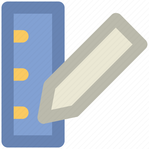 design, drafting tool, draw, drawing tool, pencil, ruler, sketch, write icon