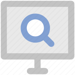 focus, lcd with magnifier, magnifying glass, search, view, zoom icon