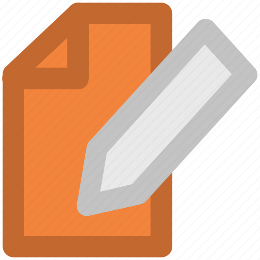 contract, notepad, paper with pencil, pencil, writing pad, writing paper icon