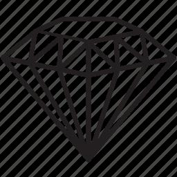 diamond, marketing, price, rate, research, seo, value icon
