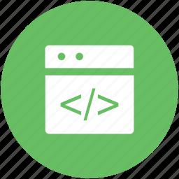 code optimization, html coding, html language, html tag, web coding icon