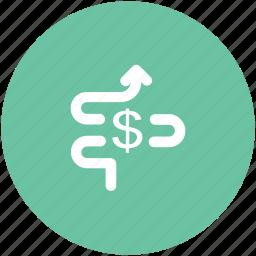 analysis, analytics, dollar valuation, finance, monitoring icon