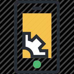 hardware service, mobile screen, screen gear, seo, technical support icon