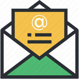 electronic communication, email, emailing, netmail, open mail icon