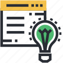 ideology, infographic concept, lightbulb, website, website template icon