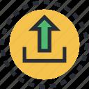 arrow, indicator, upload, uploading, upward