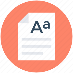 doc, document, report list, text sheet, writing sheet icon