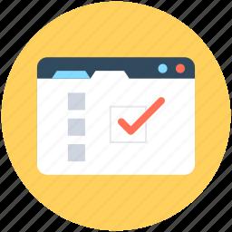 agenda, checklist, checkmark list, list, todo icon