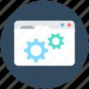 cog, web options, web preferences, web setting, webpage