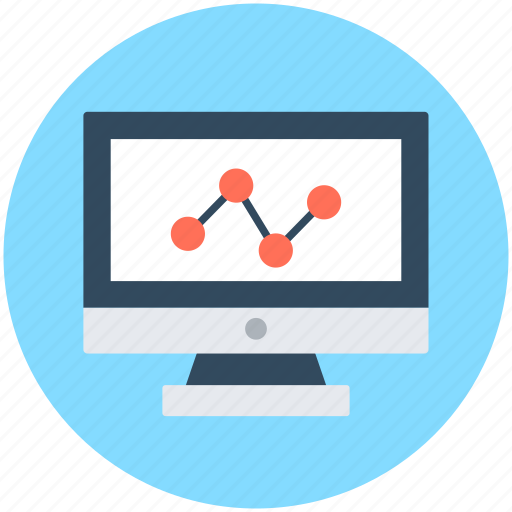 growth chart, line chart, online analytics, online graph, online infographic icon