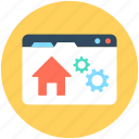 home setting, web home, web options, web page, web setting