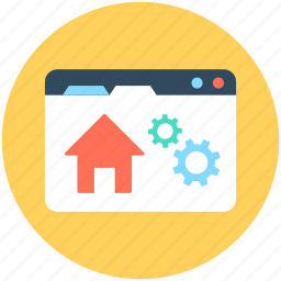 home setting, web home, web options, web page, web setting icon