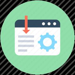 article configure, cog, cogwheel, paragraph configure, webpage icon