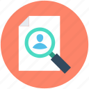 job applicant, personnel search, searching job, searching man, searching staff icon