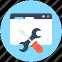screwdriver, settings, spanner, web configure, web preferences