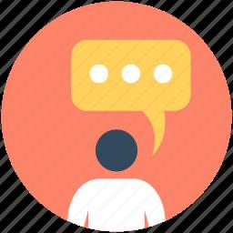 bubble, speech, speech box, speech bubble, talking bubble icon