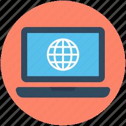 earth grid, globe, internet connection, internet grid, monitor icon