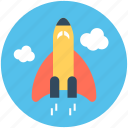 missile, rocket, space travel, spaceship, startup icon