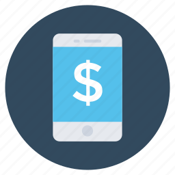 banking app, dollar, dollar sign, mobile payment, online payment icon
