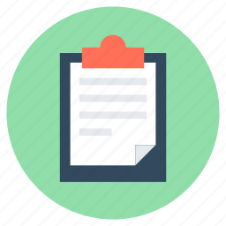 article, clipboard, paper, report, report paper icon