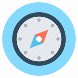 compass, directional tool, gps, navigational compass, speedometer icon