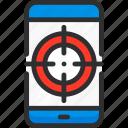 mobile, phone, plan, seo, target, targeting icon