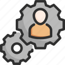 cogwheel, options, plan, seo, settings, targeting, user icon