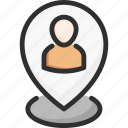 location, person, pin, plan, seo, targeting, user icon