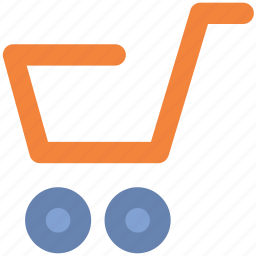 hand trolley, hand truck, luggage cart, packages icon