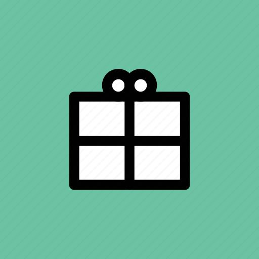 balloon, cardboard, gift box, open box, present icon