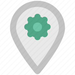 location marker, location pointer, map locator, map pin, navigation, pin setting icon