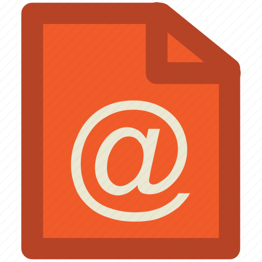 arobba sign, at, at sign, email, file, internet, mailing, web ui icon