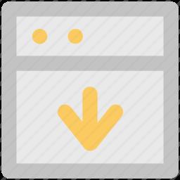 arrow, down arrow, download, downloading arrow, save file, web screen icon
