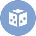 casino, casino dice, dice, dice piece, game icon