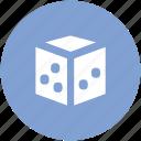 casino, casino dice, dice, dice piece, game icon