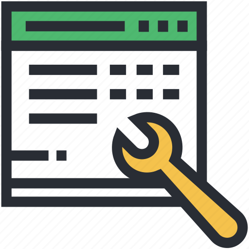 seo, software testing, web development, website, wrench icon