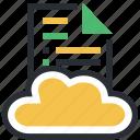 cloud computing, digital storage, file storage, online docs, sky docs icon
