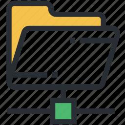 data access, folder, information access, network folder, shared folder icon