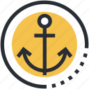 anchor, boat anchor, marine anchor, sea, ship anchor icon