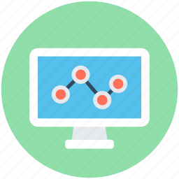 analytics, computer analytics, graph, graph monitoring, graph screen icon