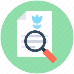 magnifier, magnify glass, page, search file, search page icon