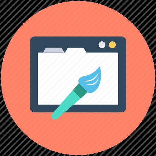 web building, web editor, web page, website, website editing icon