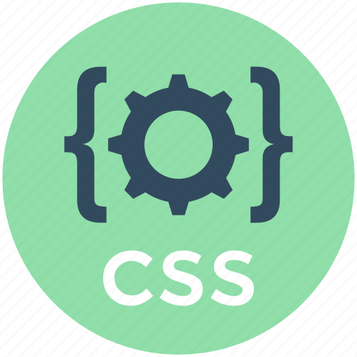 cascading, cog, css, css gear, css settings icon